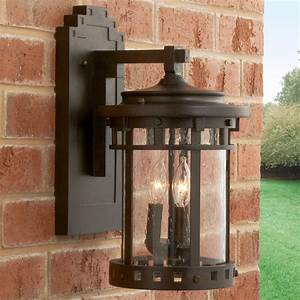 Outdoor Hanging Light Fixtures Seeded Glass Prairie Style Outdoor Wall Lantern Large