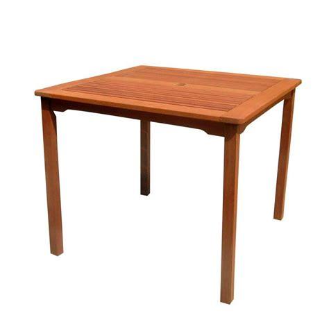 vifah roch eucalyptus patio stacking table v1104 the