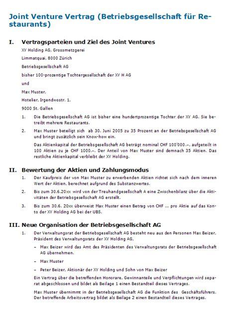 Für ein transparentes vertragsmanagement inkl. Zusammenarbeitsvertrag Muster