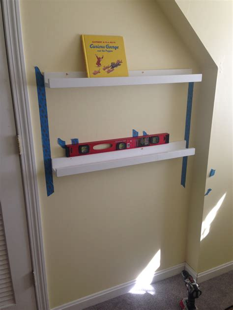 rails diy wall drilling studs screwing into easy hanging hang level pre