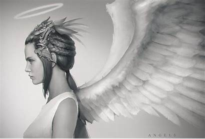 Wings Angel Halo Angels Wallpapers Religious Fantasy
