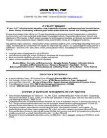 project management resume points it project manager resume template premium resume sles exle