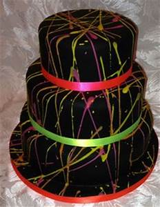 1000 images about Neon fondant cakes on Pinterest