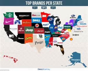 Map Reveals The Mostgoogled Brands In Every State  Daily