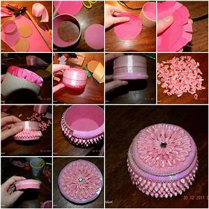 How to make Small Round Jewelry Box step by step DIY