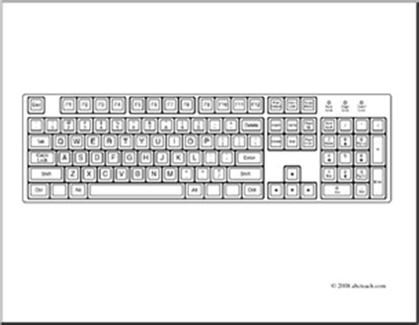 Coloring Keyboard by Clip Computer Keyboard Coloring Page Abcteach