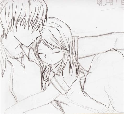 anime couple draw how to draw anime couple