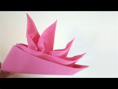 servietten falten anleitung schiffchen origami mit