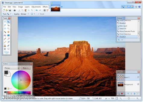 download paint net 4 1 5 photo image editor for pc