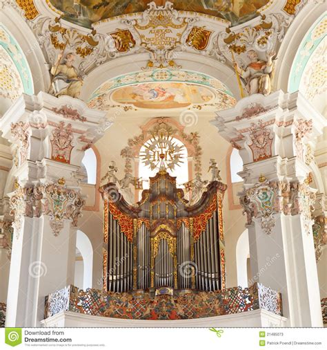 baroque church organ stock  image