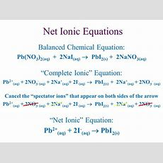 Net Ionic Equations Continued!  Ppt Download