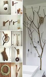 Branche De Bois Deco : branche de bois d co et pratique la fois id es artistiques d 39 esprit nature ~ Teatrodelosmanantiales.com Idées de Décoration