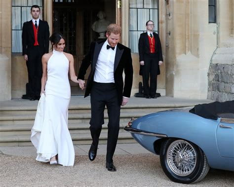 prince harry  meghan markles royal wedding getaway car