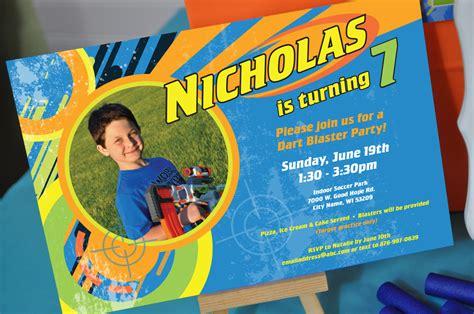 Boys Birthday Invitations Blaster Birthday Party