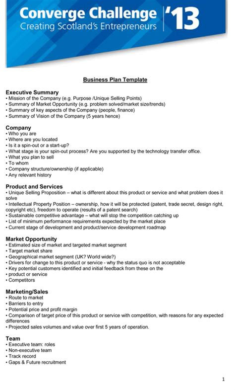 executive summary templates examples word powerpoint