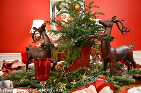 Tabletop Arrangements by Christmas Table Setting Tablescape With Plaid Plates And A