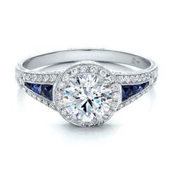 sapphire engagement ring halo and blue sapphire engagement ring 100391