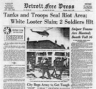 Image result for race riots hit detroit