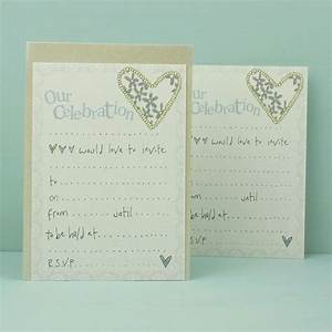 Pack of 8 our celebration wedding invitations karenza for Wedding invitations packs of 100