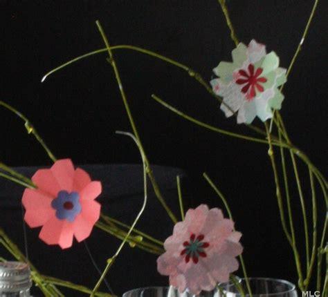 deco fleur en papier origami fleur en papier pour une d 233 coration de table