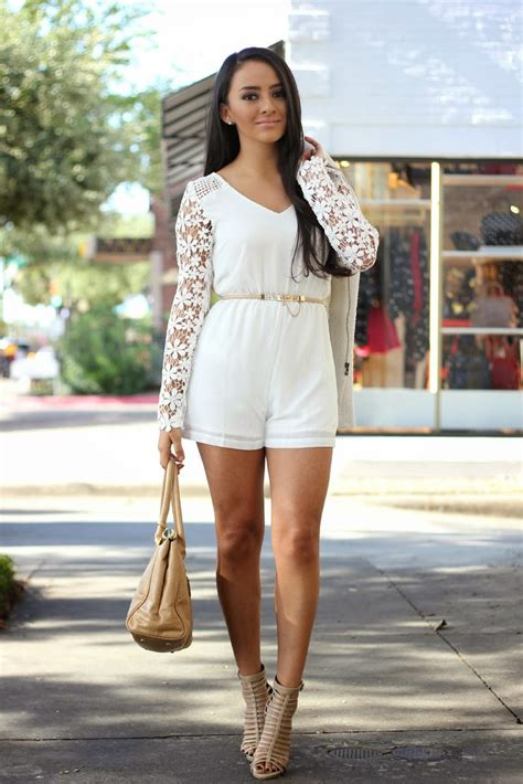 White Lace Romper | Dressed Up Girl