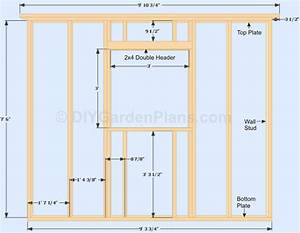 Gable Shed Plans: Side Wall and Window