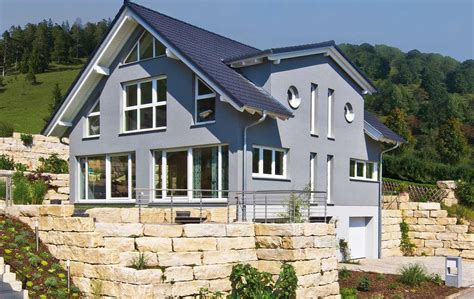 Architektenhäuser Am Hang by Fertighaus Am Hang Fertighaus Modern Flachdach Hanglage