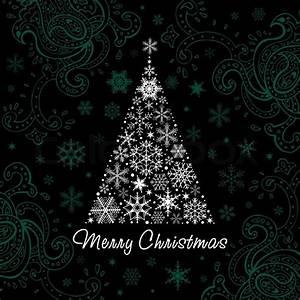Christmas Tree Of Snowflakes Vector