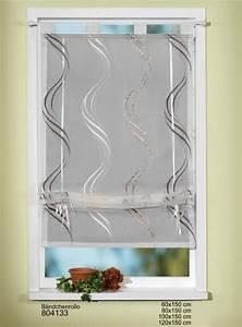Fertiggardinen Mit Schlaufen : stickerei b ndchenrollo mit schlaufen 100x150cm beige braun gardinen fertiggardinen raff ~ Whattoseeinmadrid.com Haus und Dekorationen