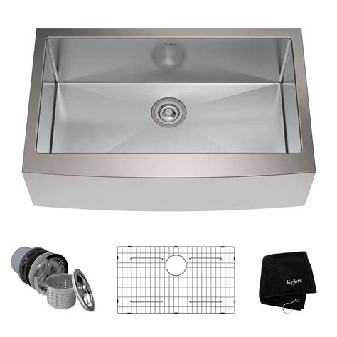 how to install stainless steel kitchen sink kraus farmhouse apron front stainless steel 33 in single 9455
