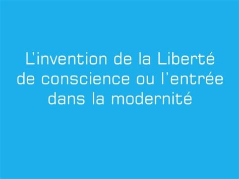 hiram be l invention de la libert 233 de conscience ou l