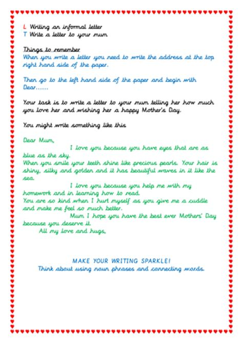 mothers day letter new s day letter cover letter exles 8254