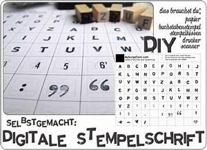 Schrift Selber Machen : diy stempel schriftart selber machen stempel ~ Avissmed.com Haus und Dekorationen