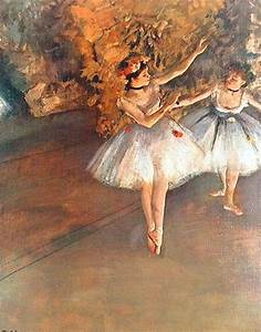 Two Dancers on the Stage by Edgar Degas - ArtinthePicture.com