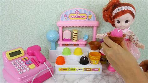 mainan boneka mattel baby doll icecream shop play doh market toys boneka es
