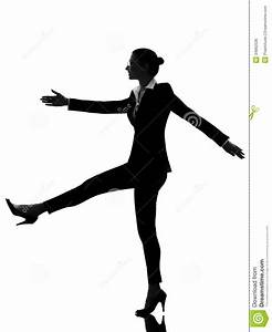Business Woman Walking Marching Silhouette Royalty Free ...