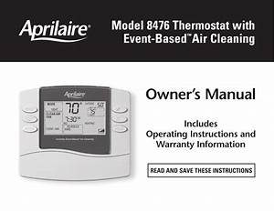 Aprilaire 8476 M Users Manual