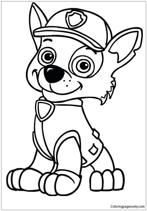 paw patrol skye coloring page  coloring pages