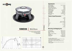 Mid-bass 10md26 Manuals