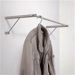 Garderobe Edelstahl Design : phos edelstahl wandgarderobe g6 design garderobe mit kleiderstange 600 mm ~ Sanjose-hotels-ca.com Haus und Dekorationen