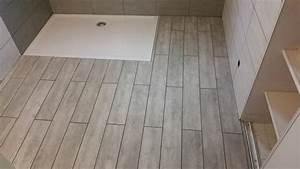 poser du carrelage au sol dans une salle de bain With pose carrelage salle de bain sol