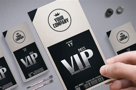 stylish simple vip pass atcreativework templates