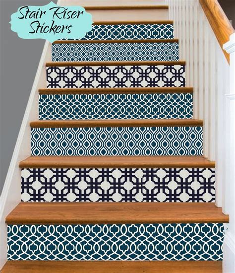 Removable Stair Riser Vinyl Decal by Stair Riser Vinyl Strips Removable Sticker Peel Stick
