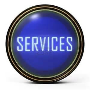 Service Button Icon Blue