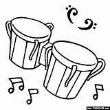 Coloring Bongo Drums Instruments Musical Kolorowanki Bongos Drum Instrument Cliparts Muzyka Instrumenty Malvorlagen Bongosy Darmowe Muzyczne Thecolor Percussion Instrumente Dibujos sketch template