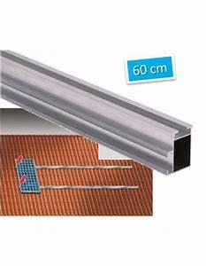 Fixation Panneau Solaire : rail de fixation 60cm pour panneau solaire en toiture ~ Dallasstarsshop.com Idées de Décoration