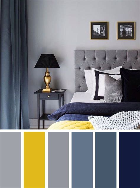 gray  yellow bedroom ideas navy blue grey  yellow