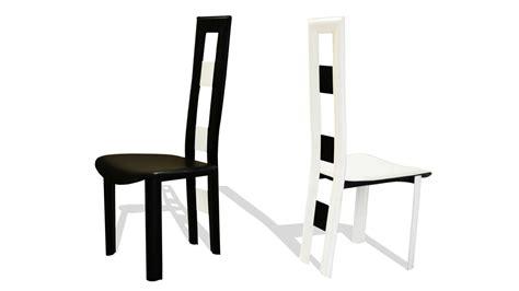 chaise salle a manger noir chaise design noir et blanc maison design sphena com