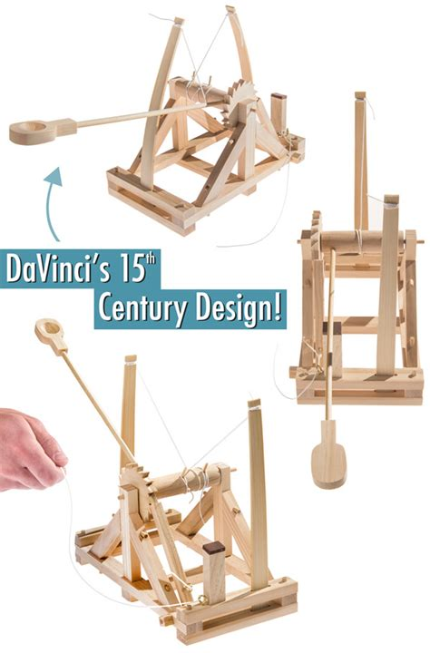 vinci siege da vinci 39 s catapult build a wooden desktop siege engine