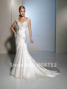custom wedding dress 2013 style satin and tulle slim a line wedding dress designers with detailing